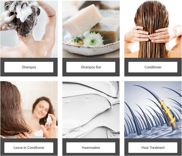 Haarproducten per Haartype
